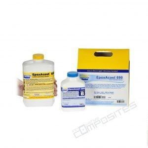 EpoxAcast 690 caurspīdīgi epoksīda sveķi 1.18kg