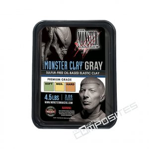 Monster Clay pelēka modelēšanas masa 2.05kg
